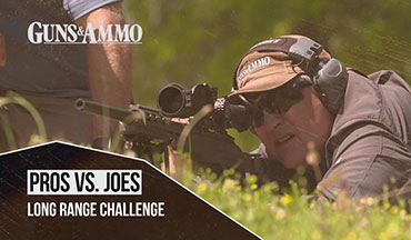 "In this segment of Guns & Ammo TV's ""Pros vs. Joes,"" former U.S. Special Forces Officer Tom Beckstrand and G&A TV Producer Darin Narlock face off in a long-range challenge."