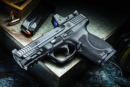 The Smith & Wesson Optic-Ready M&P9 Compact 9mm pistol keeps pace with the tactics and trends of armed America; here's our full review of its features and how it performed.