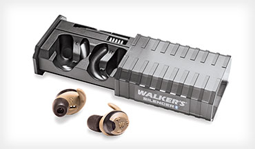 Walker's new Silencer Bluetooth Rechargable Earbuds combine the best of both worlds, affording you the convenience of plugs with the sound modulating capabilities of electronic muffs.