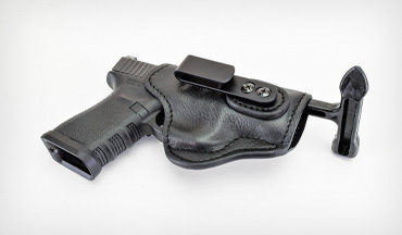 The 1791 Gunleather Ultra Custom Holster is an inside-the-waistband holster, and is offered in sizes to fit everything from tiny pocket guns to large full-size pistols.