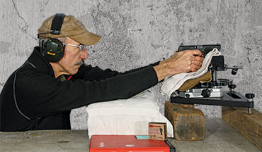 How to set up for accuracy testing your favorite handgun.
