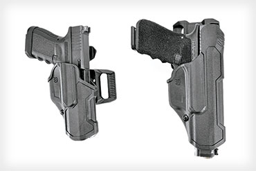 The Blackhawk T-Series holsters include compacts like the L2C (Level 2 Compact) and full-size models like the L2D (Level 2 Duty).