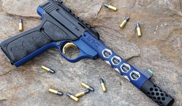 The Browning Buck Mark Plus Vision Blue is a stunning new example of a tried-and-true .22 autoloader.