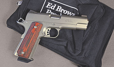 Available in .38 Super, 9mm and .45 ACP, the Ed Brown 1911 Executive Commander offers a terrific balance of weight, power and shootability.