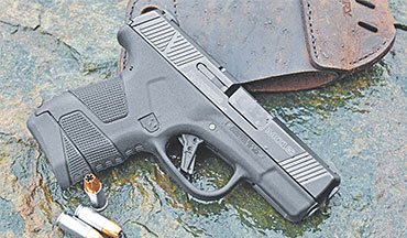 Mossberg dives into the CCW market with the MC1sc 9mm pistol (#89001), their first striker-fired semiautomatic.