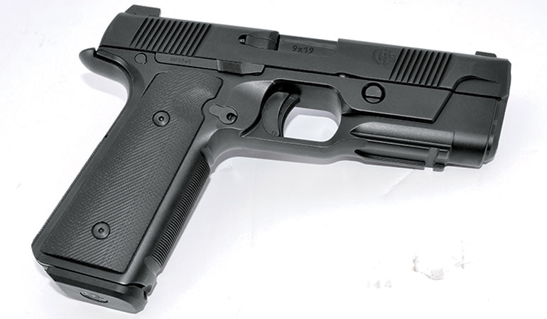 The new Hudson H9 sports a super-low bore axis and combines the best traits of striker-fired guns and the 1911.