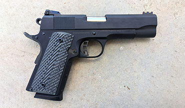 An Officer's-size frame and Commander-length slide combine to create a fine carry 1911.