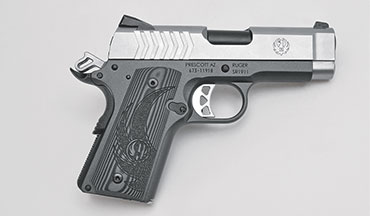 The Ruger SR1911 is offered in two versions, an all-stainless in .45 ACP (model # 6762) and a two-tone aluminum-framed model in 9mm (model # 6758). This review by James Tarr will focus on the 9mm.