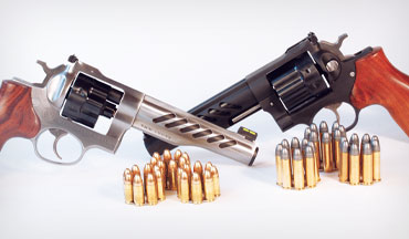 Ruger offers not one but two Super GP100 Competitions, a 9mm and a .357/.38, for serious wheelgunners.