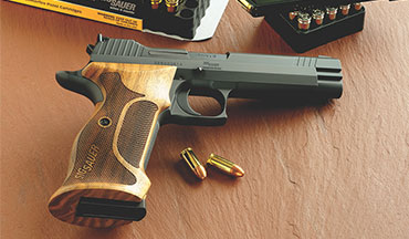 The lines of the SIG P210 Target are clean, smooth and classic, and the finish is impeccable.