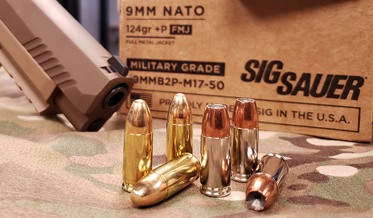 SIG SAUER Introduces M17 9mm +P Ammunition