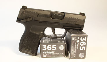The SIG P365 is an excellent 9mm carry pistol—one that's rated for +P ammo—and it's now available with a manual thumb safety.