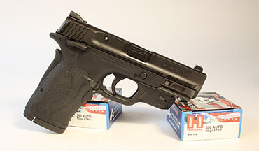 Smith & Wesson's M&P380 Shield EZ is a soft-shooting, easy racking pistol that now is available with an integral green laser.
