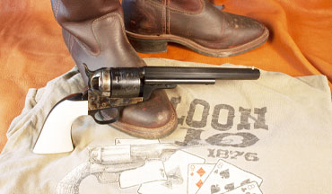 Uberti's 1851 Navy Conversion single-action revolver honors a Western legend.