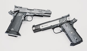 Both the Ruger SR1911 Competition and Remington R1 Tomasie Custom are big, heavy guns, purpose-built for competition. Depending on which sport and which division you intend to pursue, one of these guns will meet your needs without having to fork over the cash a true custom gun will cost you.