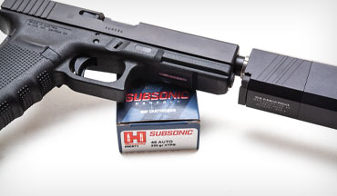 Hornady's Subsonic ammo cuts the noise but still delivers the performance.