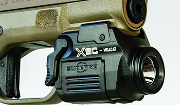 Surefire's new XSC is designed for today's popular micro-compacts. Its low-mount switch is easy to reach and can be activated for momentary or constant-on.