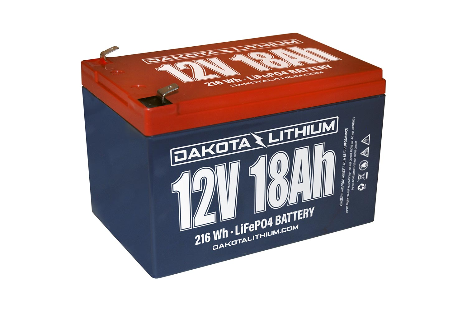 Extend your power with Dakota Lithium's 12-volt, 18Ah battery.