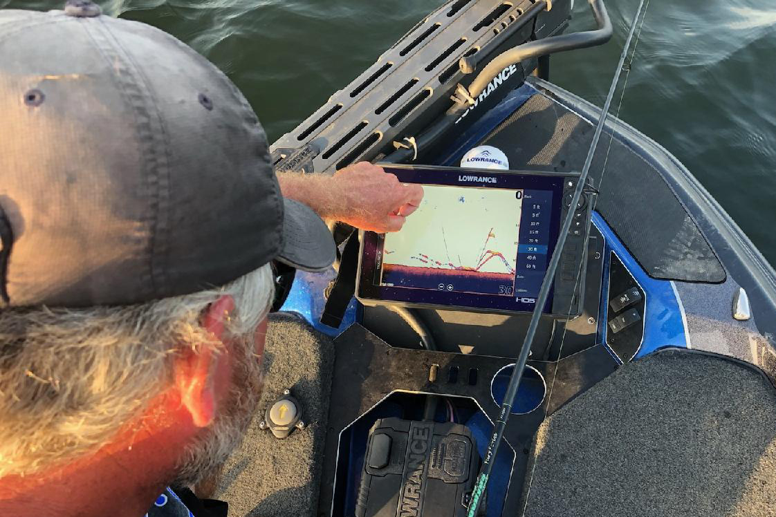 Learn to find and catch bass directly beneath your boat through the use of electronics