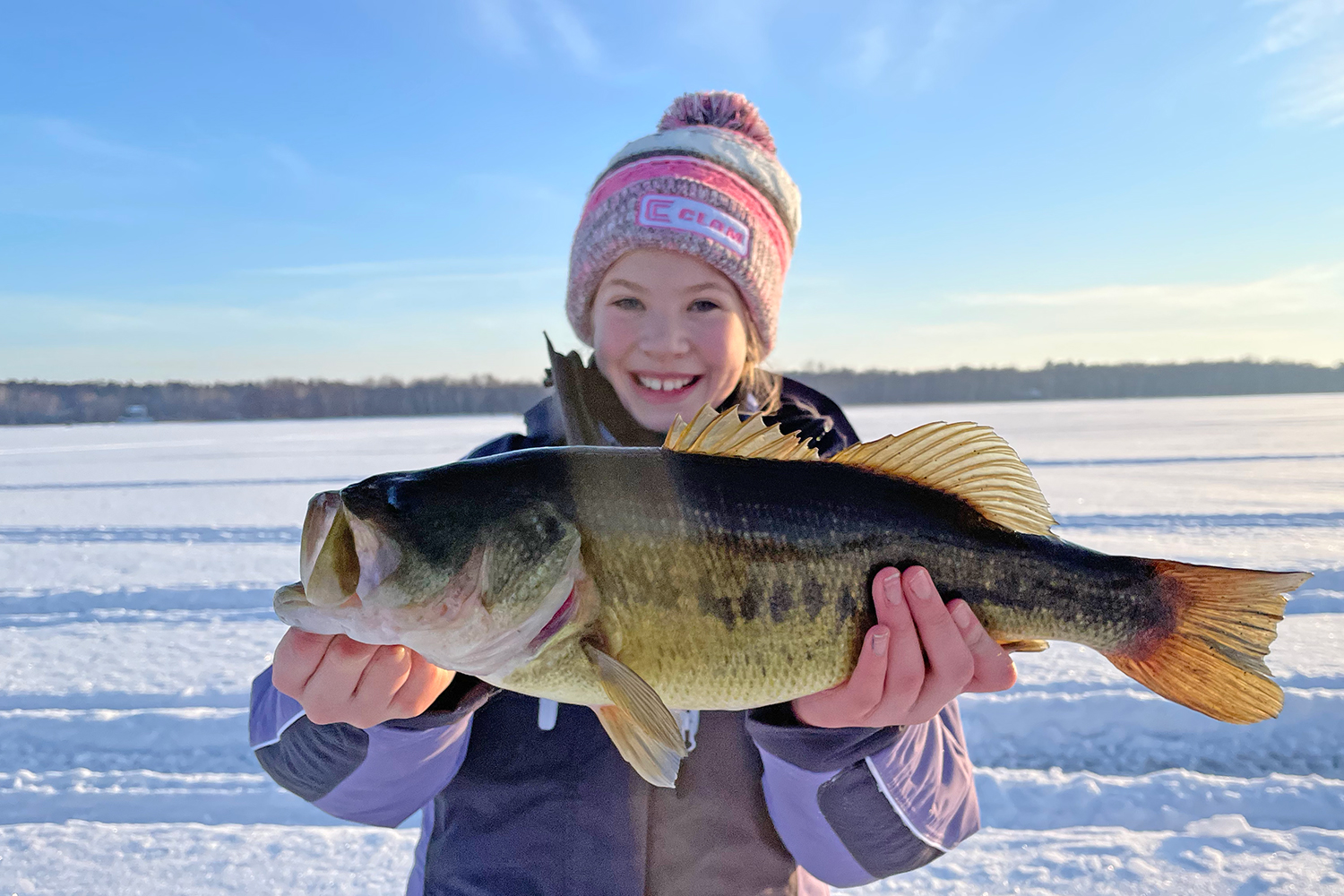 With a little planning, numbers of largemouth bass can be caught through the ice.