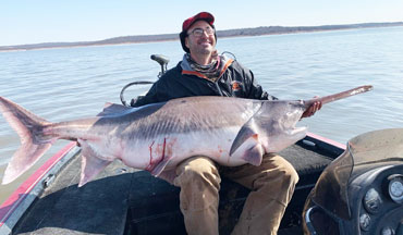 A Valentine's day experience one angler won't soon forget.