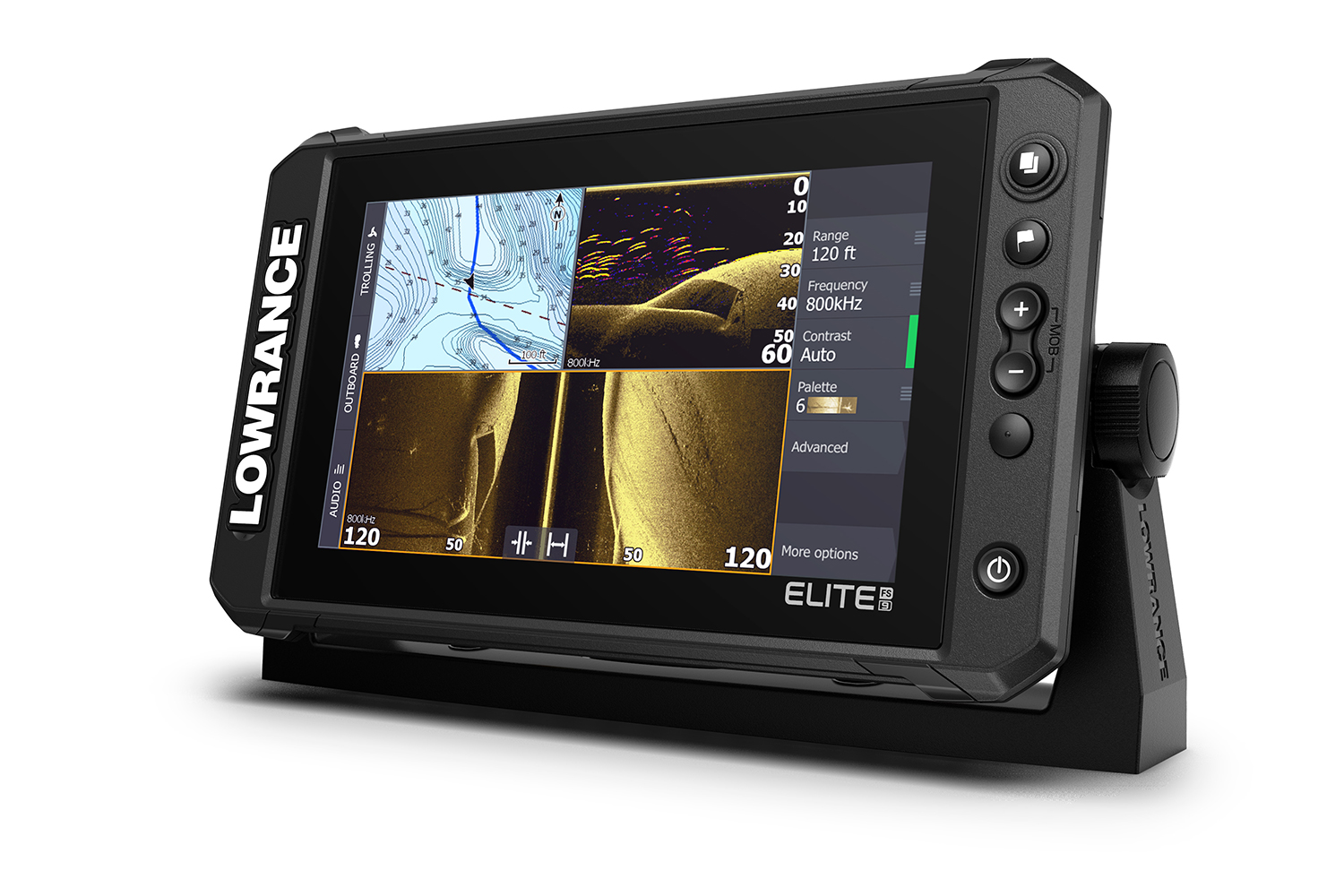 Lowrance announced the launch the most powerful Elite series fishfinder/chartplotter available – the new, Elite FS