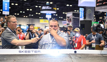 Desert Storm veteran and youth fishing mentor David Lowrie was surprised with a complete boat overhaul at ICAST 2019.