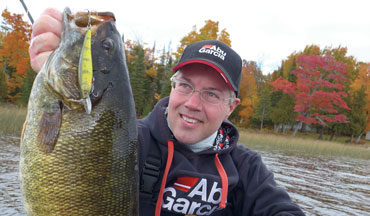 Until the snow flies and beyond, smallmouths are vulnerable to both livebait and artificial lures.