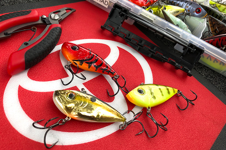 Here are VanDam's three favorite color patterns on a lipless crankbait.