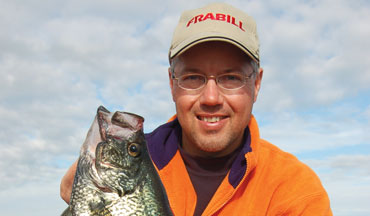 Deep panfish are especially susceptible to vertical presentations at this time of year.