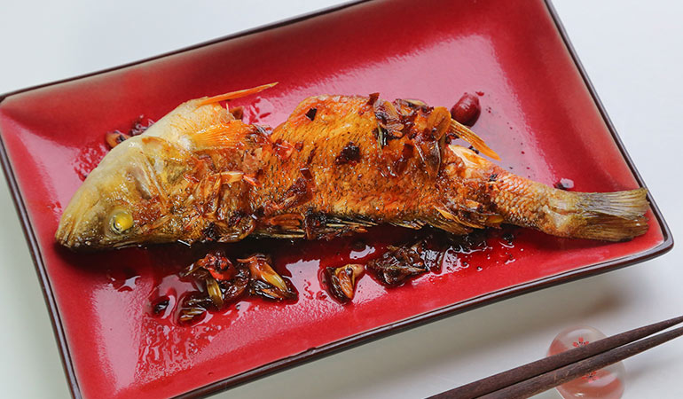 Asian Seared Whole Fish With Chili Sauce Recipe