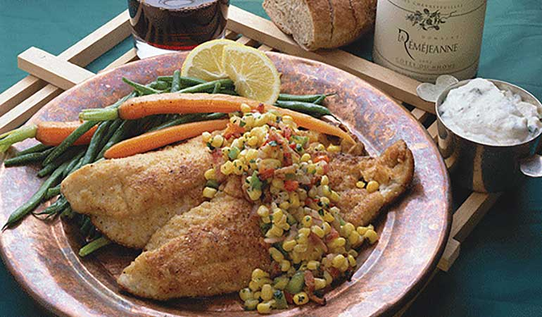 Catfish With Chili Cornmeal Crust Recipe