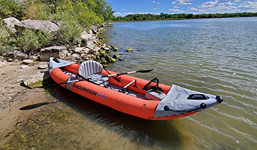 With the Intex Excursion Pro, a sit-in inflatable fishing kayak offered at an affordable price, you'll be on the water in no time.