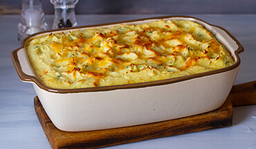 This hearty fish pie dish is particularly welcome after a winter day on ice or open water.