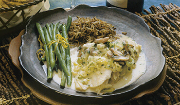In addition to walleye, this mushroom cream sauce recipe works just as well with fish such as small largemouth bass and crappies, perch, bluegills, and pike.