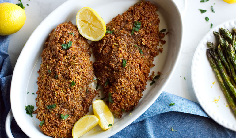 Pecan-Crusted Catfish Fillets Recipe