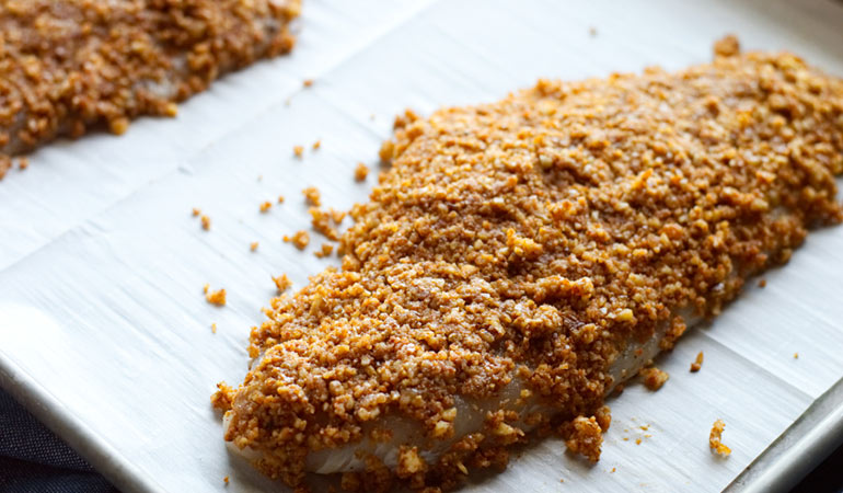 pecan crusted catfish fillets