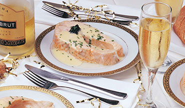 This salmon steak recipe can either be baked or steamed and is best served with a vegetable side, such as asparagus or broccoli.