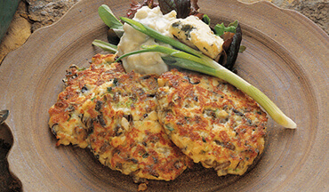 Serve these walleye fish cakes with homemade blue cheese aioli or blue cheese salad dressing.