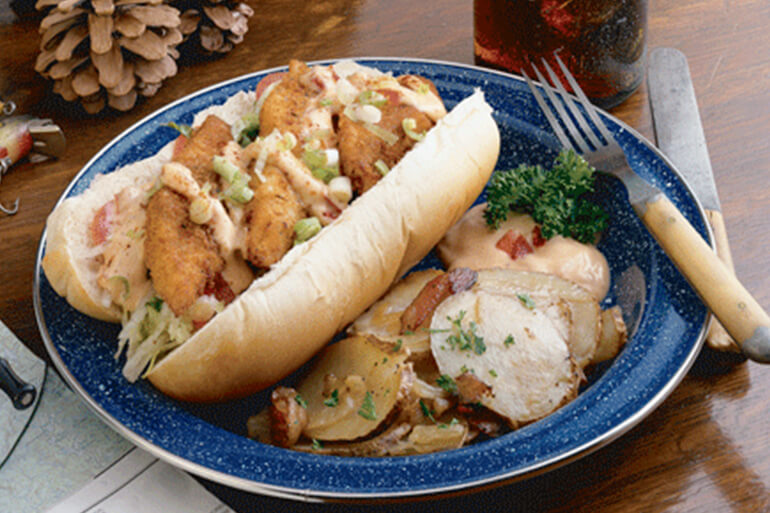 Fish Sandwich Recipe: Walleye Po'Boy with Roasted Red Pepper