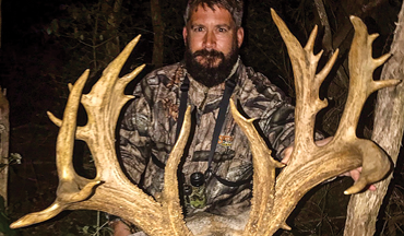 Justin Bair works intensively to manage his Ohio hill-country farm for whitetails.