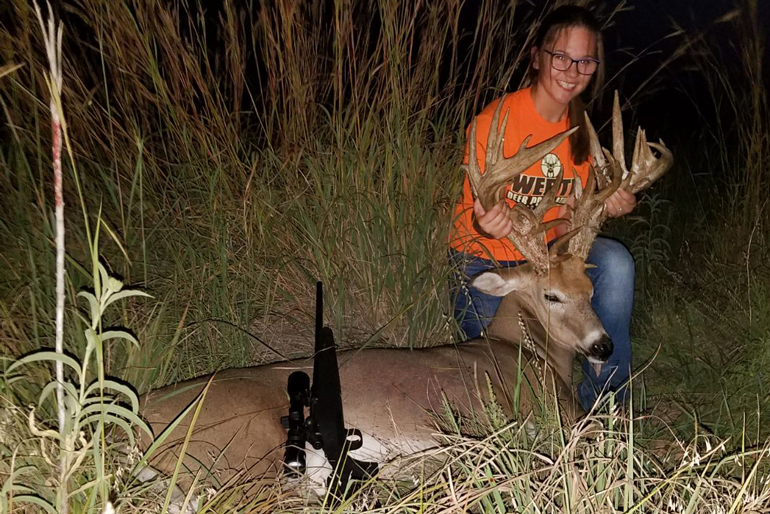 BREAKING NEWS: Kansas Teen Tags Potential Women's World Record Buck
