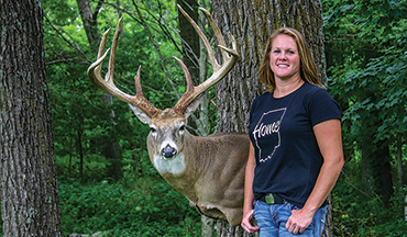 This world-class buck made an Indiana couple mighty happy - and taught their two sons a hard lesson about getting to the woods on time.