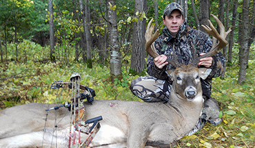 An early October morning gave a bowhunter the shot he'd been hoping for on this northern Wisconsin 12-pointer.