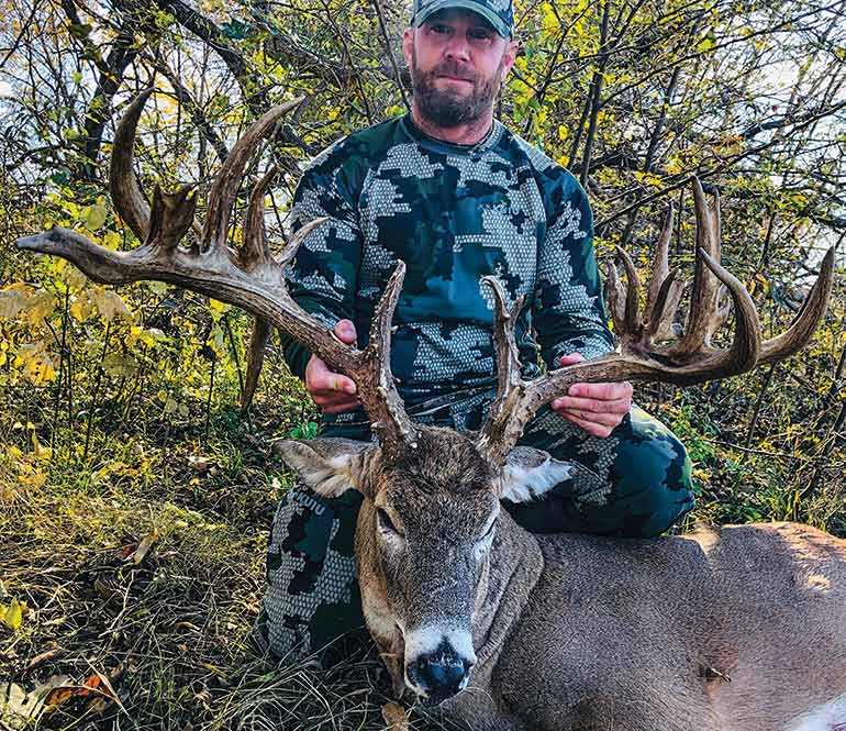 Chad Jones with Texas buck
