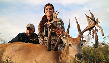 This buck claimed the title as world record non-typical by a female archer.