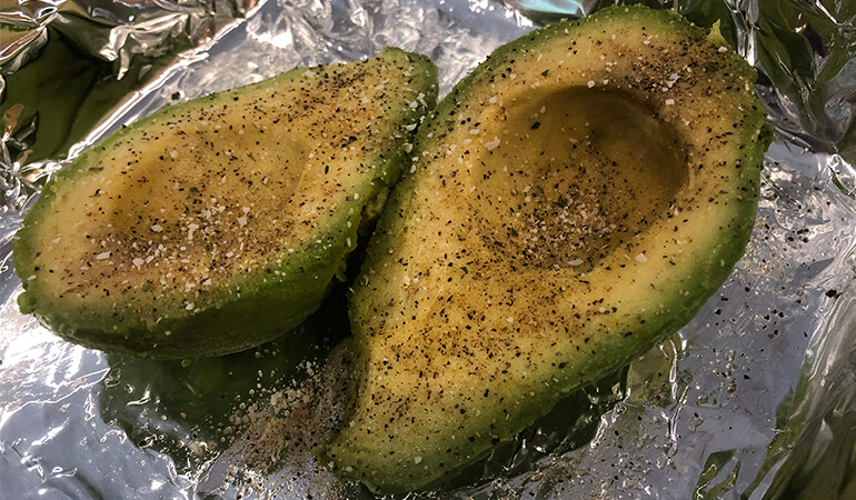 lightly seasoned avocado