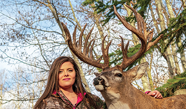 Tiffany Wiebe's first buck is one of Canada's biggest at 238 2/8.