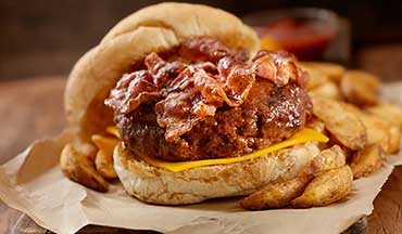 This bacon cheeseburger made with ground venison is an American classic.