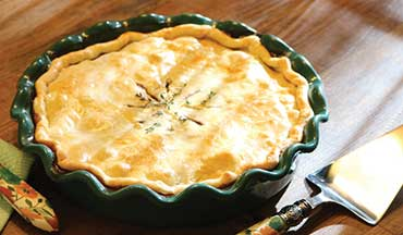 Cut a large slice of this Venison Pot Pie Recipe, or make them in individual soufflé dishes for a tasty wild-game take on the traditional chicken pot pie.